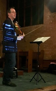 David Juritz giving us a demonstration of some of the techniques used on the violin.