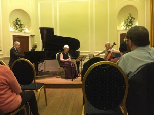 Julia, Margaret and John perform Beethoven's Trio Op. 11