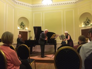 Margaret, John and David performing Il Convegno