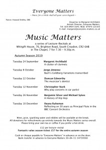 Music Matters Autumn '19